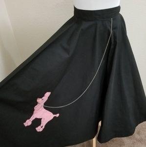 Authentic vintage poodle circle skirt 1950's